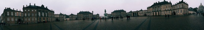 Amalienborg et sa relève de la garde